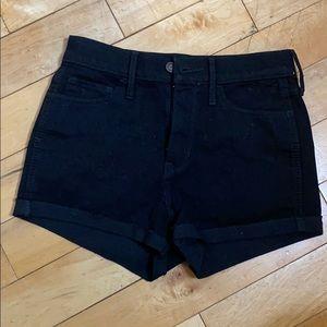 Hollister high waisted black shorts